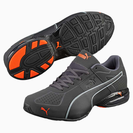 CELL Surin 2 Matte Men's Training Shoes, Asphalt-Blk-Shocking Orange, small