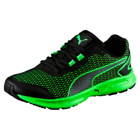Descendant v4 Jr. Kids' Shoes, Puma Black-Green Gecko, small-IND
