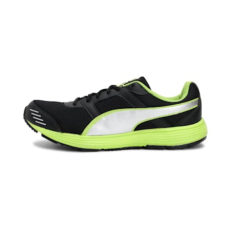 Harbour Fashion DP Running Shoes, black-silver-lime punch, small-IND