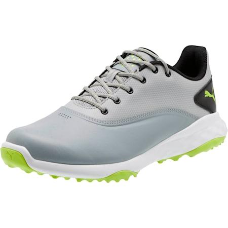 GRIP FUSION Men's Golf Shoes, Quarry-Acid Lime-Black, small
