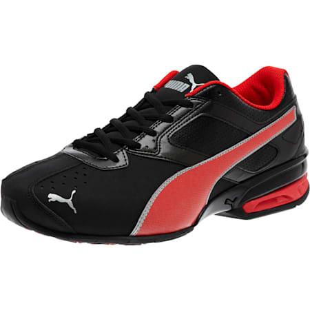 Tazon 6 FM Wide Men's Sneakers, Black-Red-Silver, small