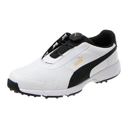 IGNITE Drive DISC Men's Golf Shoes, White-Black, small-SEA