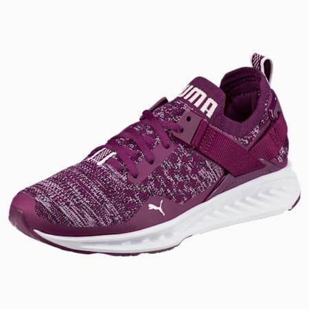 IGNITE evoKNIT Lo Women's Training Shoes, Dark Purple-White-Black, small