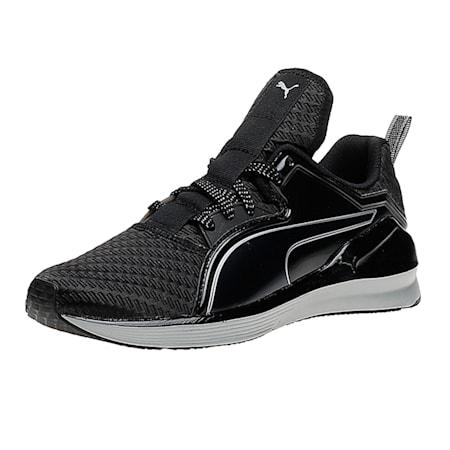 Fierce Lace Metallic Women's Training Shoes, Puma Black-Puma Silver, small-IND