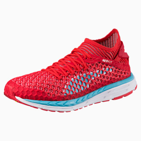 SPEED IGNITE NETFIT Women's Running Shoes, Poppy Red-Turquoise-White, small