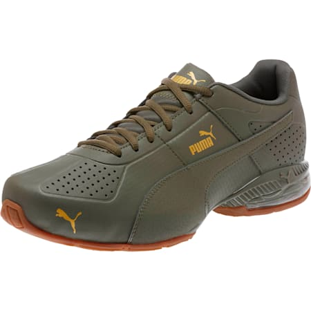 Cell Surin 2 Premium Men's Running Shoes, Olive Night-Gold, small