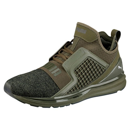 IGNITE Limitless Knit Men's Shoes, Olive Night-Puma Black, small-IND