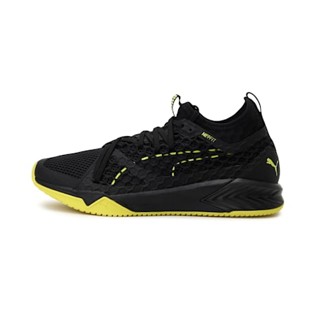 IGNITE XT NETFIT Women's Training Shoes, Puma Black-Nrgy Yellow, small-IND