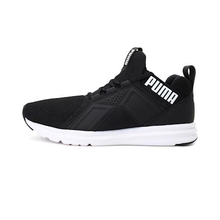 Enzo IMEVA Tec Mesh Men's Running Shoes, Puma Black-Puma White, small-IND