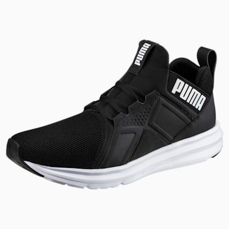 Enzo Mesh Men's Running Shoes, Puma Black-Puma White, small-SEA