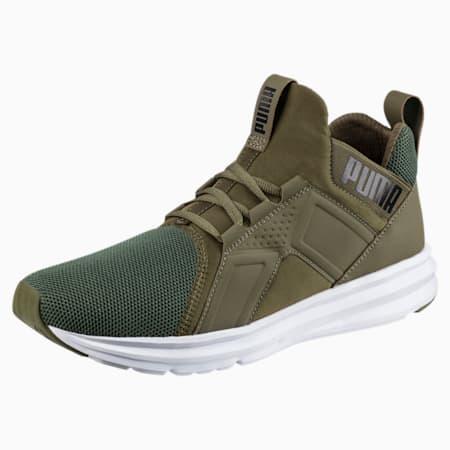 Enzo Mesh Men's Running Shoes, Olive Night-Puma White, small-GBR