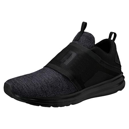 Enzo Strap Knit Men's Running Shoes, Puma Black-Asphalt, small-IND