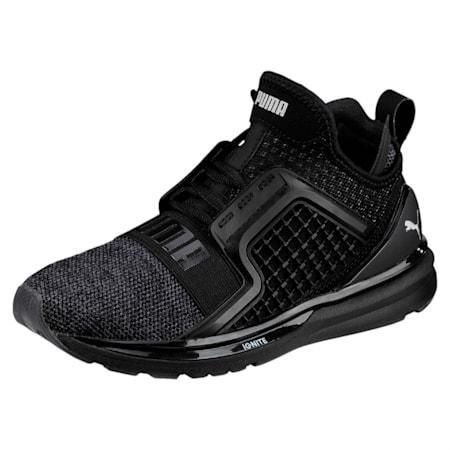 IGNITE Limitless Knit Kids' Shoes, Puma Black-Puma Silver, small-IND