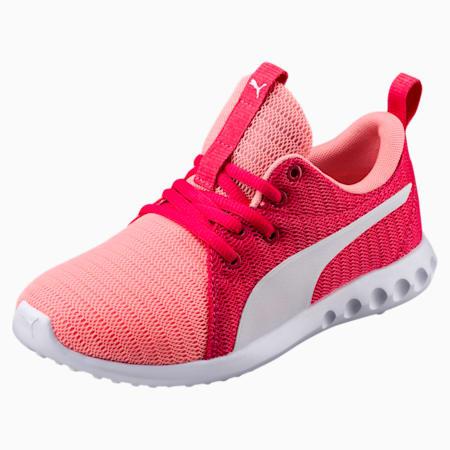 Carson 2 Sneakers JR, Soft Fluo Peach-Puma White, small