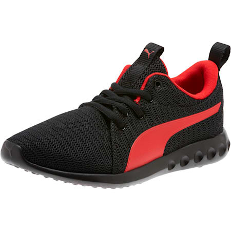 Carson 2 Sneakers JR, Puma Black-High Risk Red, small