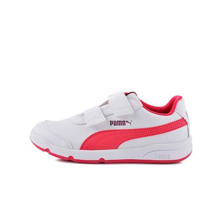 Stepfleex 2 SL V Kids' Trainers, Puma White-Love Potion, small-GBR