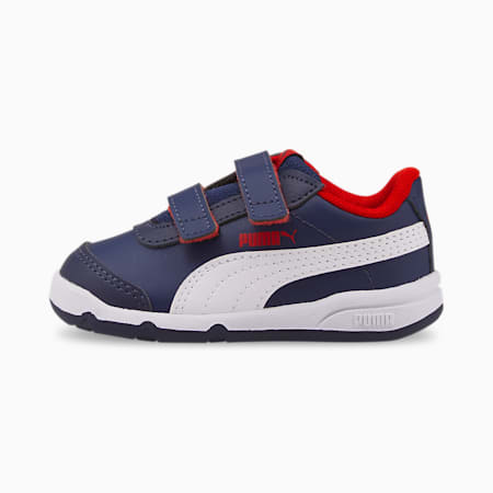 Stepfleex 2 SL Babies' Trainers, Peacoat-Puma White-Flame Scarlet, small-GBR