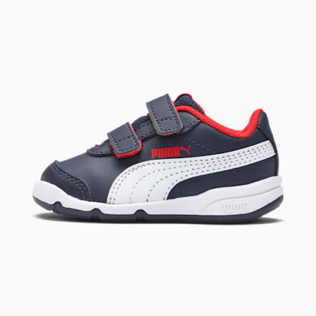 Stepfleex 2 SL Babies' Trainers, Peacoat-White-Flame Scarlet, small-SEA
