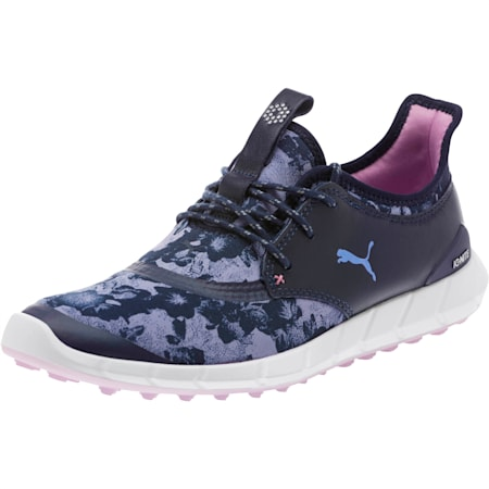 IGNITE Spikeless Sport Floral Women's Golf Shoes, Peacoat-Baja Blue-Smoky, small-SEA