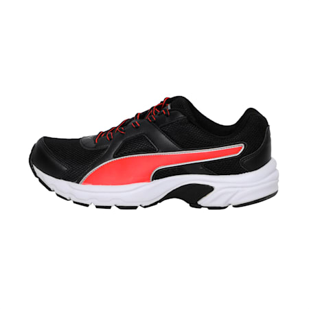 Aiko IDP Running Shoes, Puma Black-Red Blast-Silver, small-IND