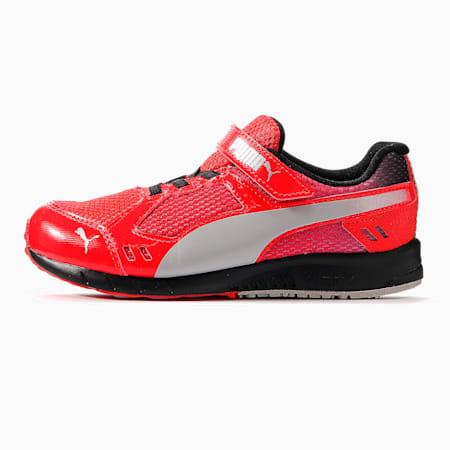 キッズ プーマ スピードモンスター V3 スニーカー 17-24cm, High Risk Red-Puma Silver, small-JPN