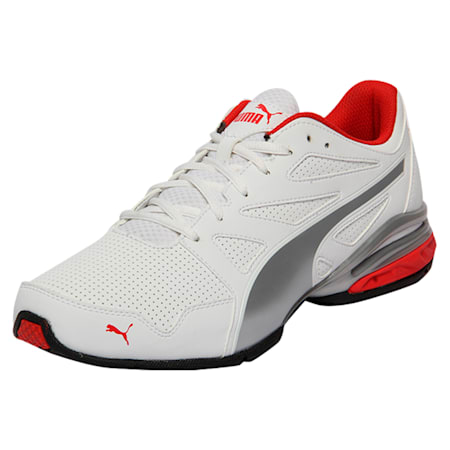 Tazon Modern SL FIT Men's Running Shoes, Puma White-High Risk Red, small-IND
