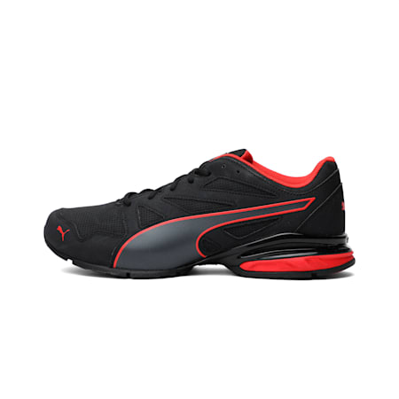 Tazon Modern SL FIT Men's Running Shoes, Puma Black-Flame Scarlet, small-IND