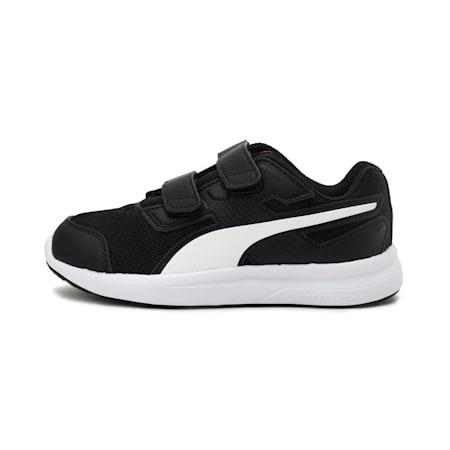 Escaper Mesh V Preschool Training Shoes, Black-White-Firecracker, small-IND
