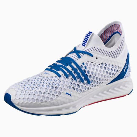IGNITE NETFIT Men's Running Shoes, Puma Wht-Lapis Blue-Toreador, small-IND