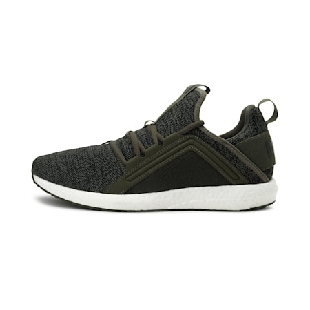 Mega NRGY Knit Men's Running Shoes, Olive Night-Puma Black, small-IND