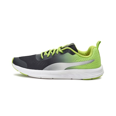 Radiance IDP Running Shoes, Dark Shadow-Limepunch, small-IND