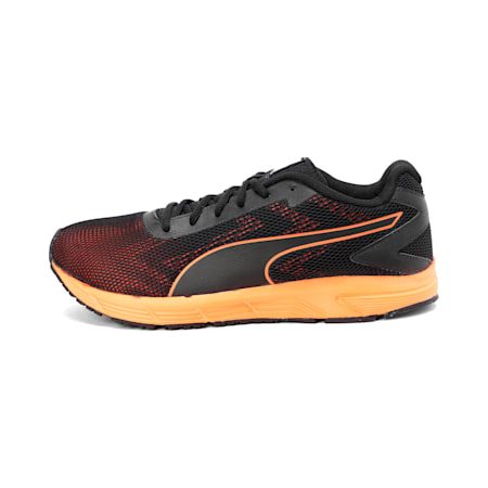 Engine IDP Women's Running Shoe, Puma Black-Shocking Orange, small-IND