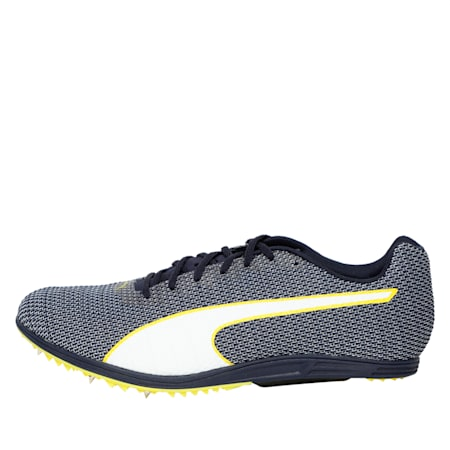 evoSPEED Distance 8 Men's Running Shoes, Peacoat-Blazing Yellow, small-IND