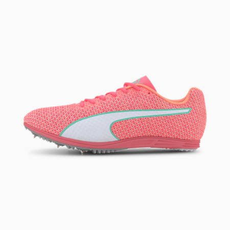 evoSPEED Distance 8 Women's Running Shoes, Ignite Pink-White-Green, small