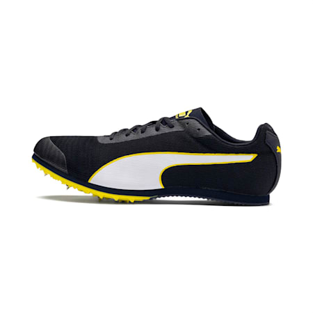 evoSPEED Star 6 Men's Track & Field Boots, Peacoat-Puma Black-Yellow, small-IND