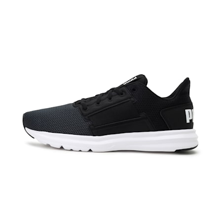 Enzo Street Men's Running Shoes, Puma Black-Puma White, small-IND