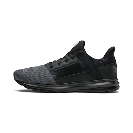Enzo Street Men's Running Shoes, Black-Iron Gate-Aged Silver, small-IND