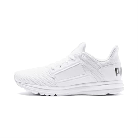 Enzo Street Women's Running Shoes, Puma White-Puma Silver, small-IND