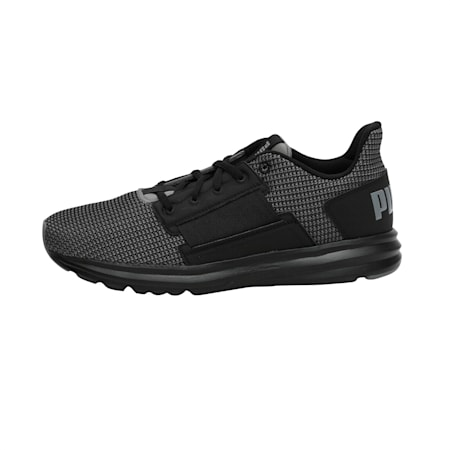 Enzo Street Knit Men's Running Shoes, QUIET SHADE-Puma Black, small-IND