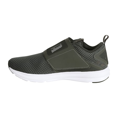 Enzo Strap Mesh Men's Running Shoes, Forest Night-Puma White, small-IND