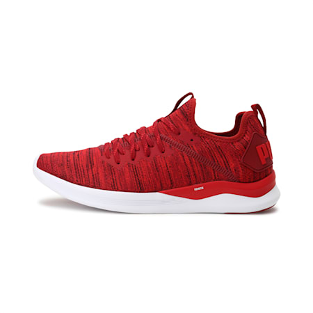 IGNITE Flash evoKNIT Men's Training Shoes, Red Dahlia-Red-White, small-IND
