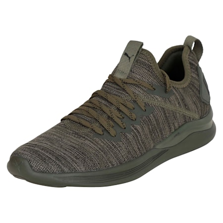 IGNITE Flash evoKNIT Men's Training Shoes, Forest Night-Gray-Black, small-IND