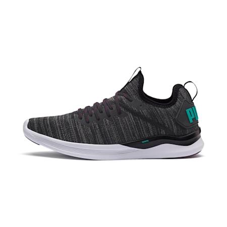 IGNITE Flash evoKNIT Men's Training Shoes, Black-Dk Shadow-Spectra Grn, small-IND