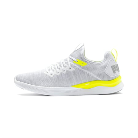 IGNITE Flash evoKNIT Men's Training Shoes, White-High Rise-Yellow Alert, small-IND