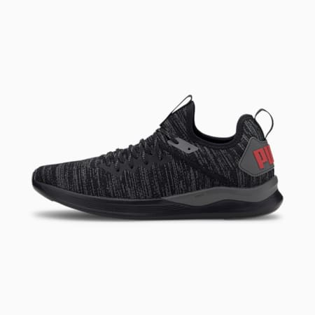 IGNITE Flash evoKNIT Men's Training Shoes, Black-CASTLEROCK-Red, small-SEA