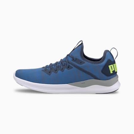 IGNITE Flash evoKNIT Men's Training Shoes, DarkDenim-Blue-YellowAlert, small-IND