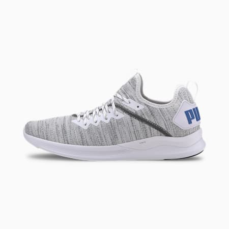 IGNITE Flash evoKNIT Men's Training Shoes, Puma White-CASTLEROCK-Blue, small-IND