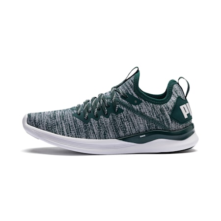 IGNITE Flash evoKNIT Women's Running Shoes, Ponderosa Pine-Puma White, small-IND
