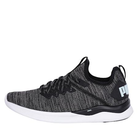 IGNITE Flash evoKNIT Women's Running Shoes, Black-Charcoal-Fair Aqua, small-IND