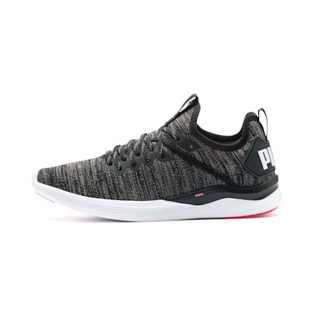 IGNITE Flash evoKNIT Women's Running Shoes, Black-White-Pink Alert, small-IND